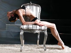 Erotic Flexibility of Incredible Gymnast and Amazing Contortionist